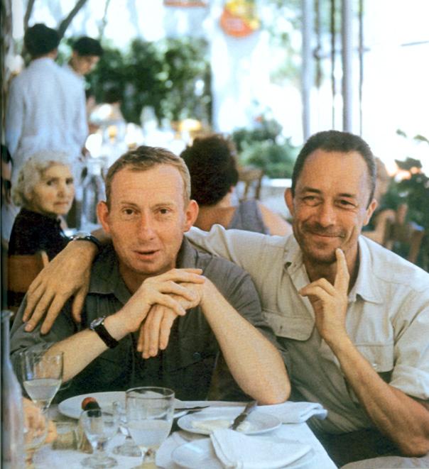 Camus with Michel Gallimard